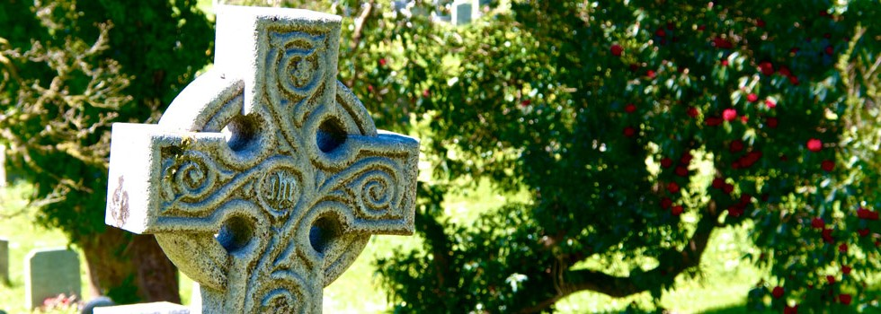 Celtic cross Lanteglos Parish Church