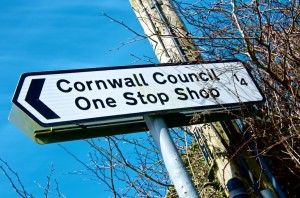 Signpost to the Cornwall One Stop Shop