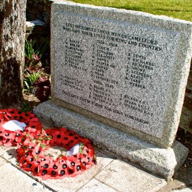 War memorial Camelford Town Centre