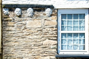 Imaginative decoration on outside wall of house in Camelford
