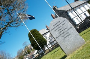 Commemorative cross celebrating Camelford's first charter